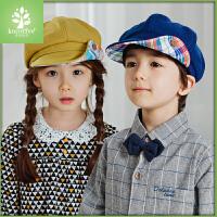 韩国KK树儿童贝雷帽男童女童太阳帽宝宝帽子2-8岁小孩鸭舌帽潮秋