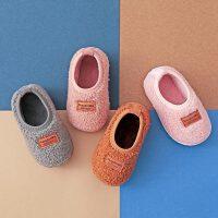 秋冬季1-5岁儿童棉拖鞋包跟家居毛毛鞋保暖宝宝棉鞋男女