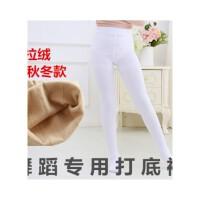 儿童舞蹈袜春秋款女童连裤袜白色连体袜冬季大童打底裤袜加绒加厚