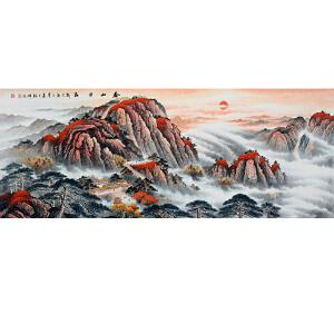 中国美协会员,中国书协会员,龙云书画院院长侯桂峰(泰山日出)24
