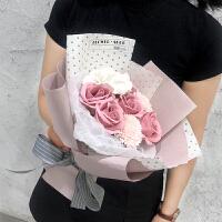 玫瑰花束情人节送女友表白生日礼物香皂花康乃馨肥皂花永生花礼盒A