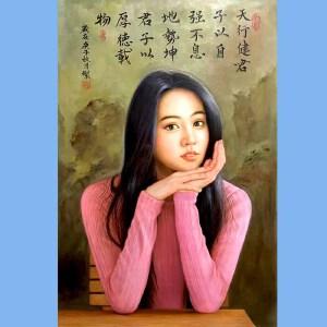 知名油画艺术家,福建省油画协会常务理事曾新伟(江山美人)8