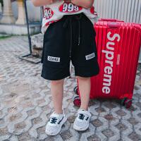 男童短裤夏儿童韩版休闲个性新款孩子短裤宝宝短t假两件裤子夏装 黑色 90cm适合5码