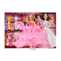 芭比换装洋娃娃套装大礼盒女孩公主儿童玩具惊喜梦想豪宅单个生日礼物