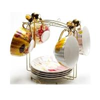 咖啡杯套装欧式小创意复古花茶杯子咖啡杯英式下午茶茶具套装