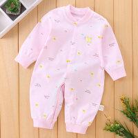 新生婴儿连体衣春秋季衣服宝宝哈衣睡衣爬爬服0-3-6-12个月薄