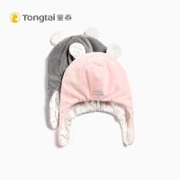 秋冬新款婴儿保暖套头帽子2-3岁儿童绒绒帽护耳帽fang寒帽