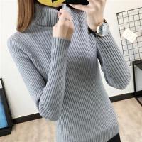 原宿风高领毛衣女装秋冬季针织衫套头短款韩版长袖加厚打底衫