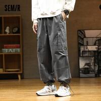 森马休闲裤男时尚韩版个性潮流工装裤男士2021新款直筒裤束口长裤