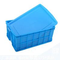 加厚塑料周转箱子物流筐胶框零件工具箱全新料养鱼水产箱带盖