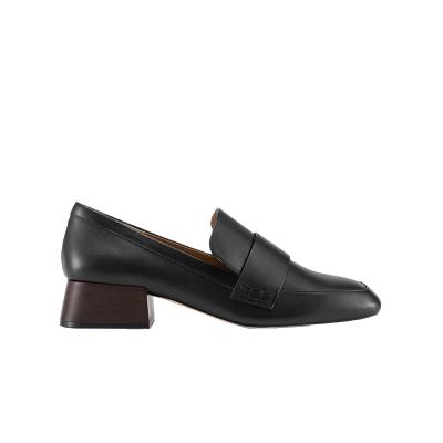 【网易严选双11狂欢】女式复古中跟牛皮乐福鞋 复刻经典,纯正英伦质感