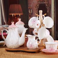 欧式水杯子套装耐热茶具套装家用陶瓷冷水壶套装凉水壶水具套装瓷