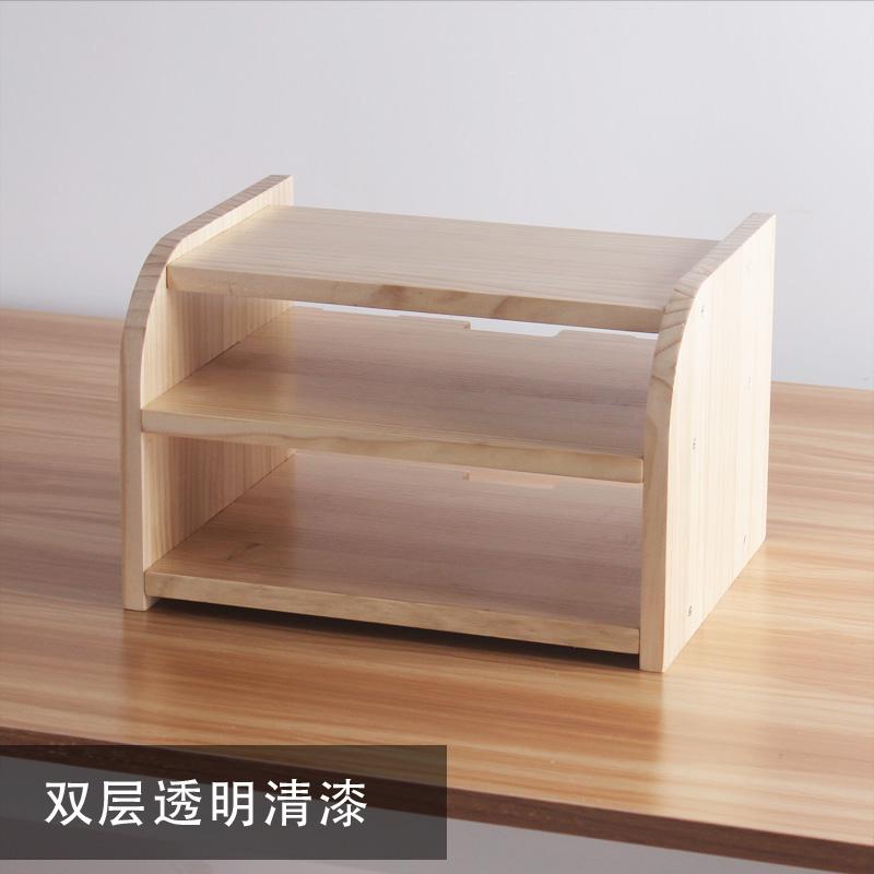 实木桌面电视机顶盒架wifi收纳架无线路由器光猫收纳盒置物架客厅  欢迎光临!本店为企业店铺,请放心购买。