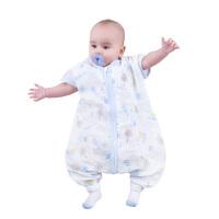 欧孕宝宝分腿睡袋纯棉婴儿两层纱布睡袋儿童防踢被