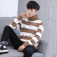 高领男士毛衣秋冬新款韩版休闲打底针织线衫外套青年潮流帅气线衣