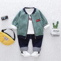 男童装春秋款三件套装婴儿帅气小孩衣服宝宝春装0-1-2-3岁4外套潮