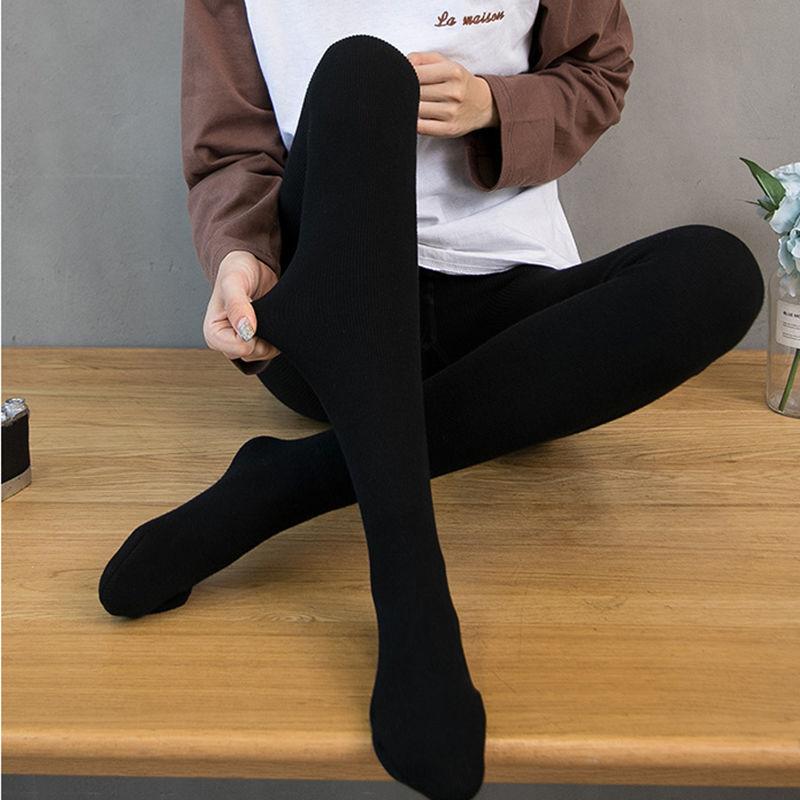 连裤袜女秋冬季加绒加厚连脚外穿打底裤400g大码显瘦保暖