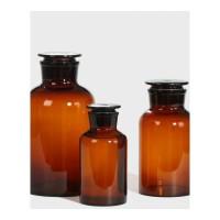 棕色玻璃泡酒瓶子广口密封罐大油桶茶色标本瓶泡酒瓶酒缸厨房储物器皿 5斤空瓶 大口