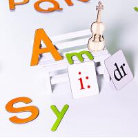 BINB必因必 磁铁英文字母和国际音标 王芳创意文具 高品质玩具卡 幼儿拼音启蒙 早教认知磁吸卡 亲子互动学习教具 当
