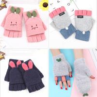 半指手套女冬保暖可爱韩版卡通日系冬天学生冬季