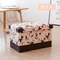 长方形收纳凳子储物凳可坐换鞋凳皮革收纳箱玩具整理箱可折叠 小号 25升【40*25*25cm】