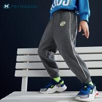 迷你巴拉巴拉儿童长裤2020冬新款男童女童卫裤厚实保暖柔软有型