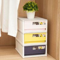 抽屉式收纳盒塑料收纳箱桌面储物盒办公收纳柜 8L 5069