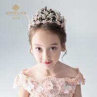儿童皇冠头饰公主粉色花仙子发箍头花发饰花童女孩生日饰品