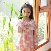 女童珊瑚绒睡衣秋冬季加厚儿童法兰绒大童公主女孩宝宝家居服套装