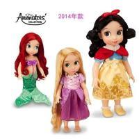 迪士尼冰雪奇缘Disney沙龙娃娃玩具40cm 洋娃娃白雪公主 正品迪士尼Disney动画师沙龙娃娃美人鱼长发贝尔白雪