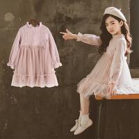 大女童公主裙2018新款儿童春秋装韩版洋气童装裙子女孩蕾丝连衣裙