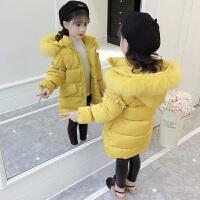 儿童棉衣2018新款冬季韩版中长款外套女孩厚款棉袄洋气冬装