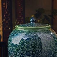 景德镇陶瓷带盖储米缸米桶防潮防虫环保储物器皿酒缸油缸水缸50斤 图片色