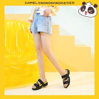 骆驼女鞋&NONOPANDA2019新款夏季时尚凉鞋厚底网红凉拖鞋女外穿