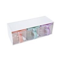 抽屉式调味盒塑料调味罐套装 厨房味精盐罐调料罐调味料盒