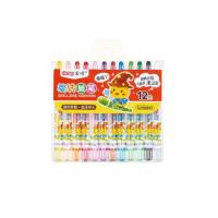 儿童画笔套装 短杆60905旋转蜡笔 炫彩棒 12/18/24/36色 幼儿园涂鸦笔