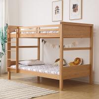 木蜡油无漆橡木日式简约双层床上下床1.2/1米实木床高低床 木蜡油无漆双层床 1200mm*2000mm 只有高低床