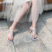 D:Fuse/迪芙夏季新款亮片装饰丁字扣显瘦仙女凉鞋DF92115163