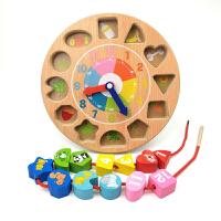 穿线早教益智男孩女宝宝穿绳智力玩具1-2-3周岁儿童创意时钟串珠