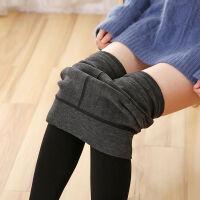 500/700克仿羊绒打底裤女外穿加厚加绒黑色踩脚一体保暖裤