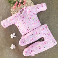 新生儿手工棉衣 棉花套装 冬季加厚初生宝宝男女婴儿满月包脚冬装 粉色佩奇 包脚 0-3个月上衣+裤子 0-3个月 斜襟