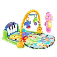 新生优选婴儿安抚玩具礼盒琴琴婴儿健身器+声光安抚小海马