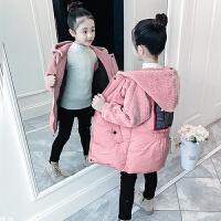 儿童棉衣冬季韩版中大童加厚外套中长款女孩棉服