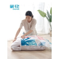 茶花抽真空压缩袋收纳袋被子家用大号棉被特大加厚送电泵收纳袋子