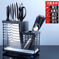 304不锈钢厨房架家用筷筒勺收纳盒沥水置物架一体多功能筷子笼