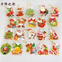 圣诞装饰品迷你祝福卡许愿卡心愿卡圣诞树挂饰挂件装饰物 10片装随机发