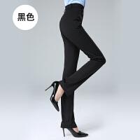 春秋女士西装裤黑色弹力直筒职业正装工作服工装女裤子加长加大码