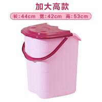 家用泡脚桶塑料加大高深按摩洗脚盆泡脚木桶带盖保温足浴盆足疗桶