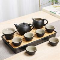 【品�|好�】日式黑陶便�y旅行茶具套�b家用功夫茶具整套茶�夭璞�陶瓷干泡茶�P