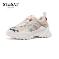 ST&SAT星期六休闲鞋圆头系带舒适旅游女鞋SS03112222